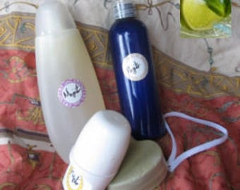 Lime green/Peppermint body care set
