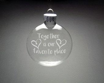 Newlywed Christmas Ornaments - Boyfriend Christmas -  Girlfriend Christmas Gift - Wife Gift - Husband Gift - Our First Christmas