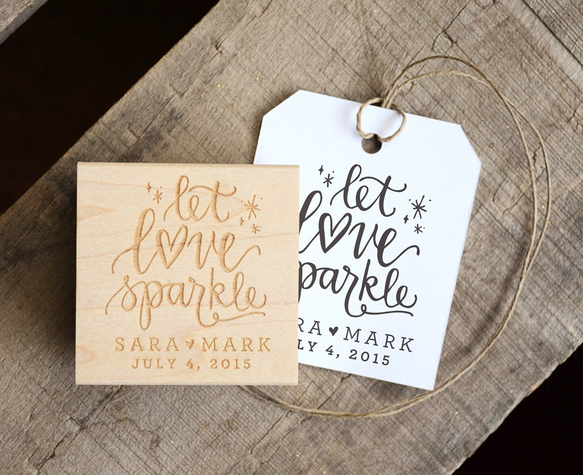 Let Love Sparkle Stamp For Wedding Sparkler Tags Wedding