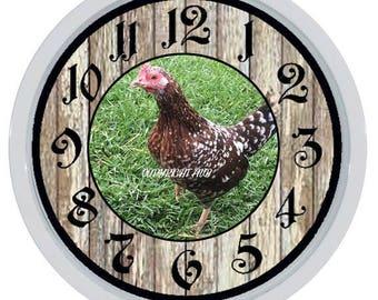 Chicken Hen Rooster Custom Made Wall Clock