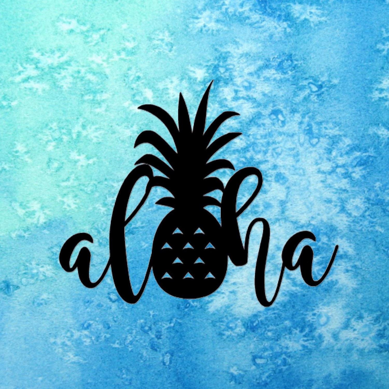 Aloha Pineapple Sticker Hawaii
