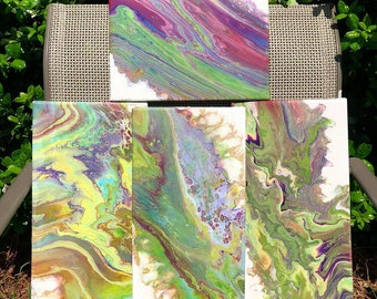 Soul Shine - Acrylic & Resin on Canvas - 4 piece set