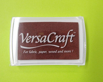 VersaCraft Ink , Chocolate, VK-154, Multipurpose water-based pigment ink, fabric, paper, wood, porcelain, leather