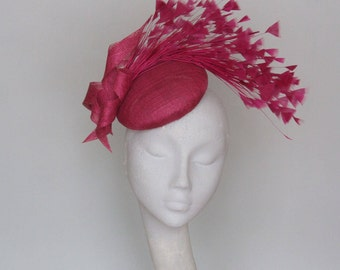 Pink Magenta Kentucky Derby Hat,  Royal Ascot Hat, Occasion Fascinator SS 2018
