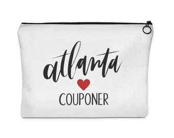 Atlanta Couponer Pouch Couponer Frugal Hand Clutch