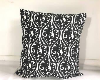 SALE Pillow cases Cotton Pillows Decorative Pillow  Dorm pillow Premier Print Black and white 20x20,  16X16, 14x16, 12x16, 12x12, 10x10