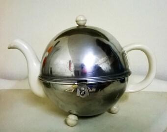 Iconic 1950s Metal Cased Teapot