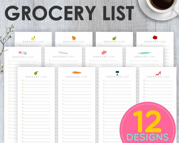 Grocery List Printable Grocery List Shopping List Printable