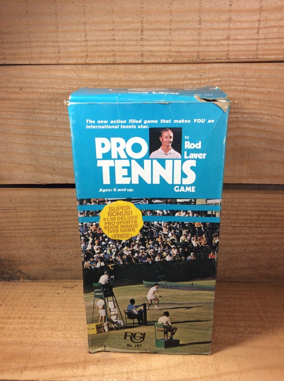 Pro Tennis Game from 1974, very unique and hard to find, Pro Tennis by Rod Laver, tennis collector, tennis fan must have, tennis player gift