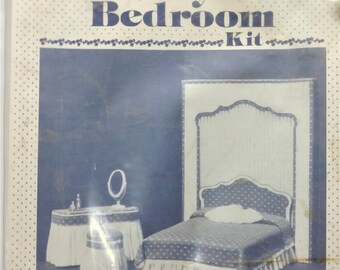 Dollhouse Miniature Lady's Bedroom Kit by d. Anne Ruff New Old Stock