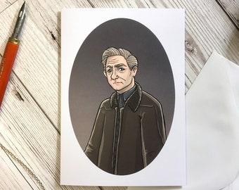 John Watson card, A6 size, Sherlock Holmes card, birthday card, friend card, sister card, sherlock lover card, Benedict Cumberbatch,