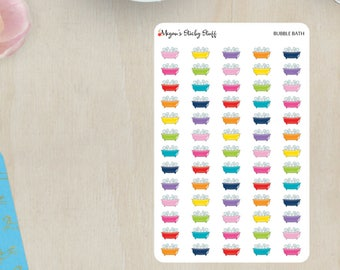 Bubble Bath Functional Planner Stickers