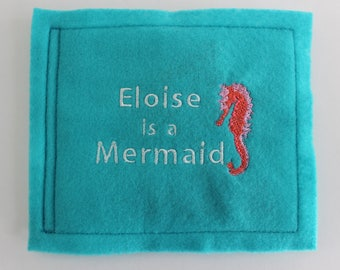 Personalized Book for Child or Baby - Felt Book - Mermaid - Personalized Story Book - Baby Gift - Child Gift - Mermaid Story