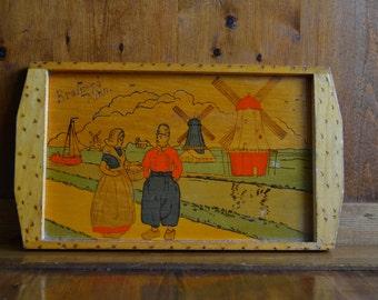 Tray Wooden Souvenir Early 1940's  from Brainerd Minnesota