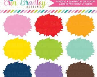 80% OFF SALE Paint Splatter Clipart Graphics Instant Download Commercial Use Painting Clip Art