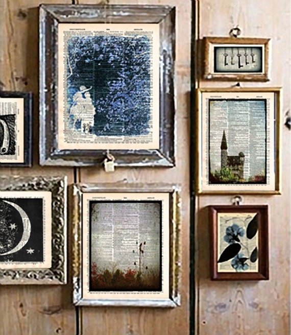 framed book pages