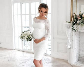 Maternity Wedding Dress,Baby Shower Dress,Wedding Dress, Maternity Dress  For Photoshoot,