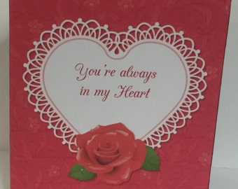 From The Heart Valentine's Card (Card, Your Choice of Insert and Envelope