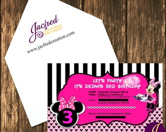 Mouse inspired birthday invitation (10)