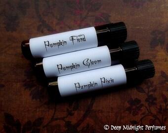 GOTHIC PUMPKIN Perfume Sampler Set - Halloween Perfume Set #8 - Fall Perfume