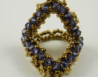 Beading Tutorial - Crystalline Ring