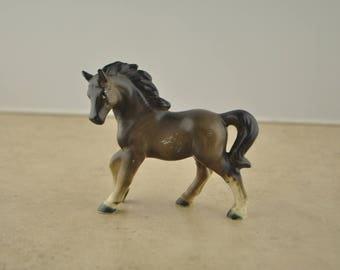 Vintage Brown Ceramic Horse Figurine