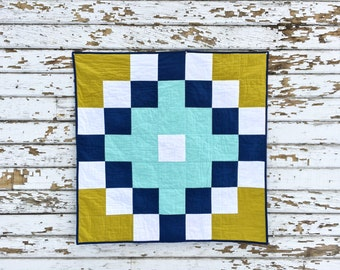 Chasing Waterfalls Quilt | Modern Quilt | Modern Baby Quilt | Organic Cotton Quilt