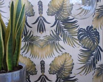 Vintage Tropical Wallpaper