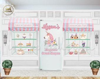 DIGITAL FILE Unicorn Magical Sweet Shoppe, Candy Table Backdrop, Unicorn Birthday, Unicorn Banner, Unicorn Decorations, Unicorn Party