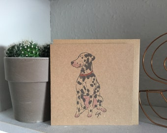 Illustrated Dalmation Card