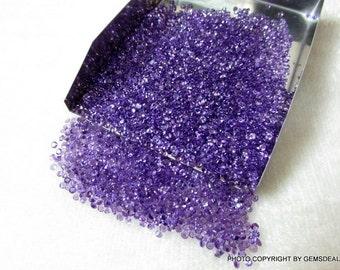 Round 2 mm - 3 mm round (25 pcs each size) Natural genuine AMETHYST round top cut faceted gemstone.....
