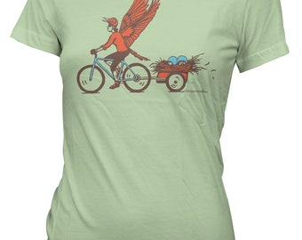 Mama Bird Bicycle Tee - SALE