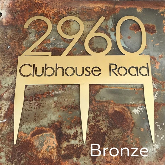 Address Sign with Stakes | Stainless Steel | Custom Address Sign
