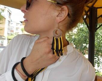 """Extravagant earrings """"Suede"""""""