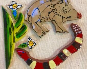 Desert Dwellers Handmade Ceramic Mosaic Tile Pack