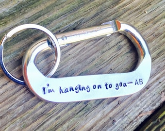 Personalized Carabiner, Husband Gift, Featured in US Weekly, Boyfriend Gift, Father's Day Gift, Coordinance Carabiner, natashaaloha