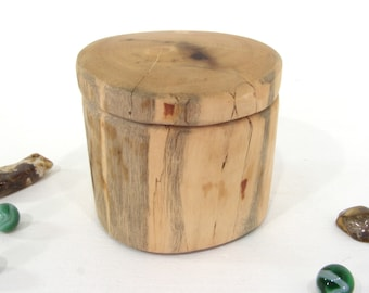 Oregon Myrtlewood Branch Box, pet urn, small cremation urn, groom gift, anniversary, wooden jewelry box, wood jar, gratitude box, wood art