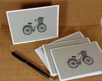 Note Cards - Bicycle Note Cards - Set of 6 Note Cards