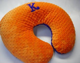 Boppy Pillow Cover with Curlz Applique Letter