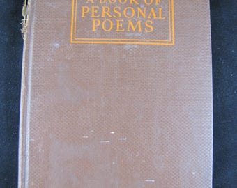 A Book of Personal Poems // 1936 Hardback // Personal reaction poems