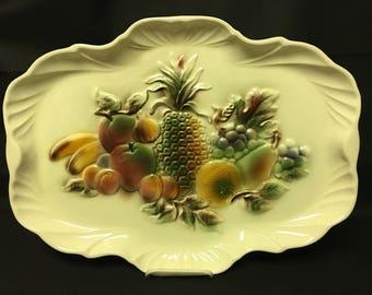 Vintage Lane & Co Large Serving Platter in Fruit Design