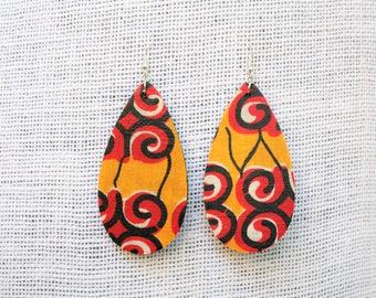 Ankara African Fabric Earrings