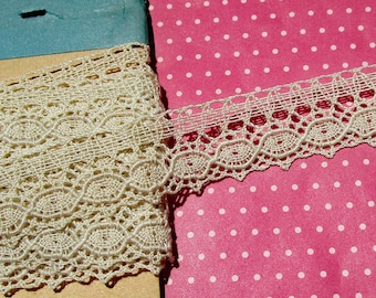Antique Lace Vintage Lace Trim Cluny Lace Cotton Lace Ecru Edging