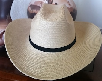 Kids Cattleman crease Palm Leaf Hat
