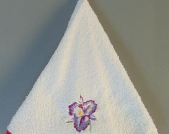 embroidered towel round towel