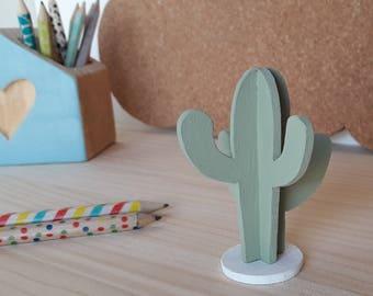 Mini Decorative Cactus Nordic Style | Green | White