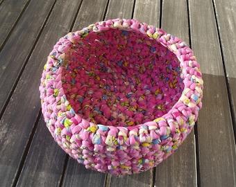 handmade multicolor basket, violet