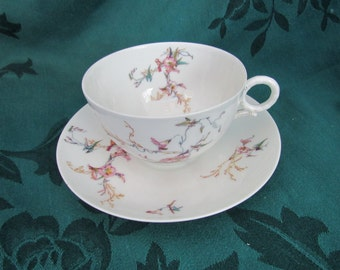 Haviland Limoges Floral Cup and Saucer