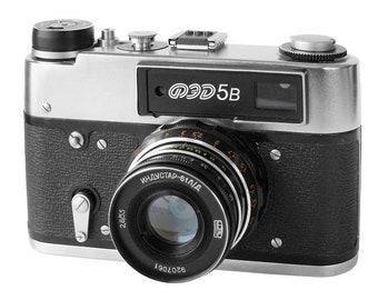 FED-5b Russian Vintage camera + Industar-61 L/D Lens IN BOX