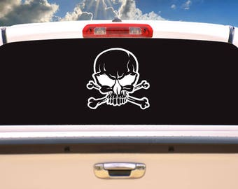 Skull and Crossbones, skull decals,skull stickers,car decals designs,mini vinyl stickers,cool stickers,decals,stickers,stickers and decals